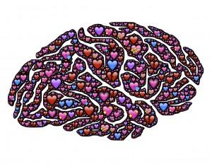 Depression and heart failure; brain full of hearts